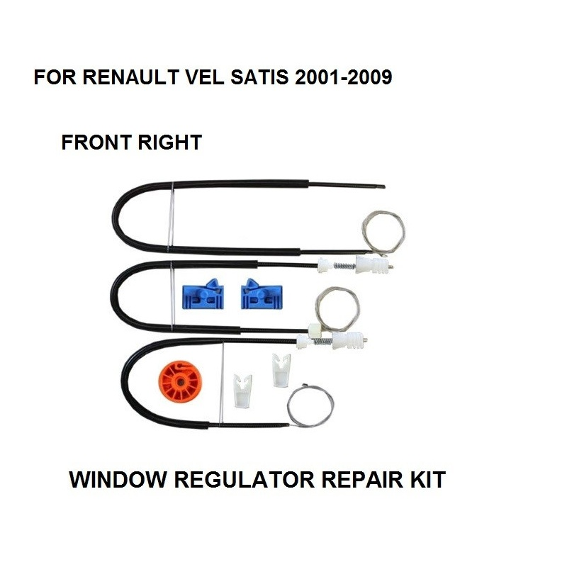 2001-2009 WINDOW REGULATOR COMPLETE CLIP SET FOR RENAULT VEL SATIS WINDOW REGULATOR REPAIR KIT FRONT-RIGHT SIDE