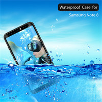 For Galaxy Note8 Waterproof Case For Samsung Note 8 Cover 360 Full Protect Coque Cases For