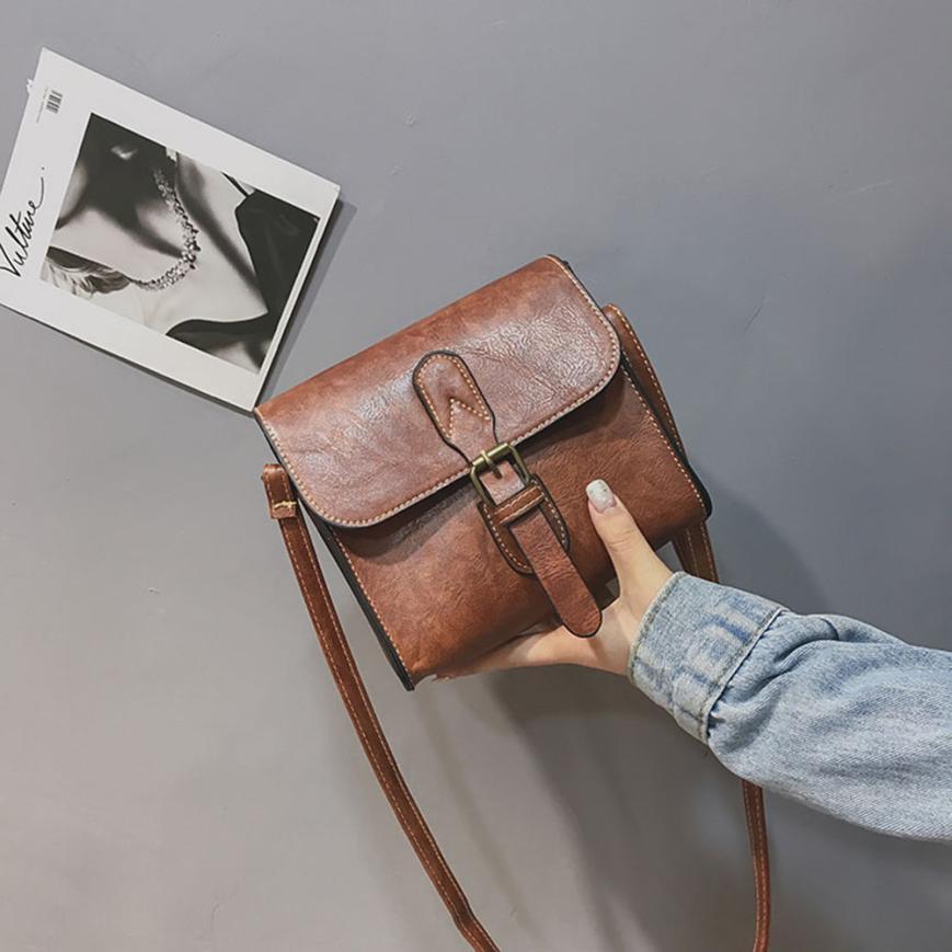 Molave Umhängetasche neue hohe qualität Leder Mädchen Mode Vintage Buckle Klappe Crossbody umhängetasche frauen FEB27