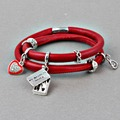ZMZY Endless Story Charm Bracelet Red Leather Bracelets With Favorite Shoes Fashion Enamel Charms For Women Jewelry