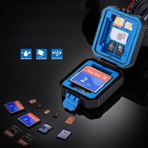 Image 2 - Kamera Speicher Karte Fall Halter Wasserdichte XQD CF TF SD Karte Box Lagerung Paket Karte Fällen
