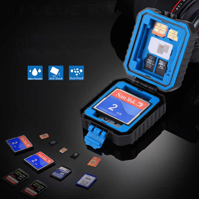 كاميرا غلاف بطاقة ذاكرة حامل للماء XQD CF TF SD علبة كرتون تخزين حزمة كروت