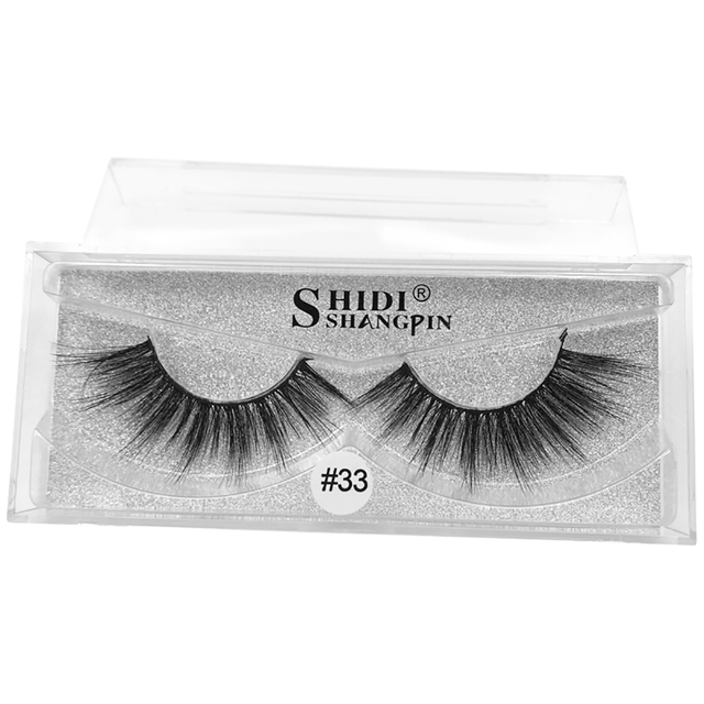 d22353c25f4 100% Handmade Eye Lashes 3D Real Mink Makeup Thick Fake False Eyelashes  With Glitter Packing Natural Long Cilios 1 Pairs