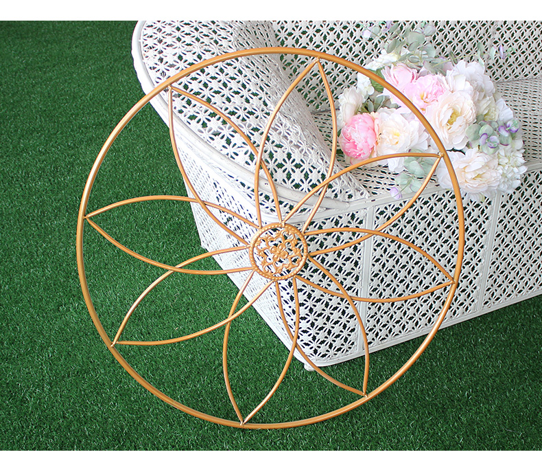 Модные металлические цветы держатель венок свадебный реквизит декоративная ваза для цветов Декорации для фотосессии - 5