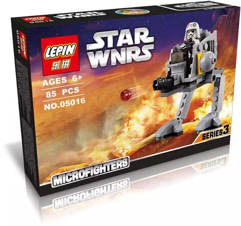 font b LEPIN b font 05016 Star Wars AT DP SMC Walker Micro Fighters Minifigures