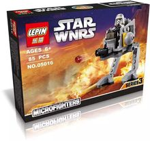 LEPIN 05016 Star Wars AT-DP SMC Walker Micro Fighters Minifigures Building Block Toys Compatible with Legoe 75130
