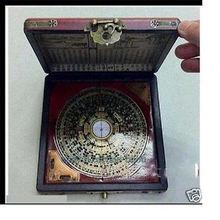 купить Chinese Tibet Charm Rare Dragon Phoenix ''Feng Shui'' Compass With Wooden Box дешево