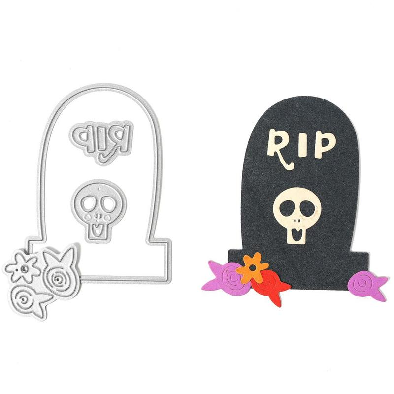 Tombstone Die Cuts Stencils Rectangle Frame Embossing Template