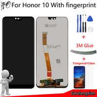 AAA Original LCD pour Huawei honour 10 LCD écran tactile numériseur assemblée + empreinte digitale pour honour 10 COL-L29 LCD remplacement