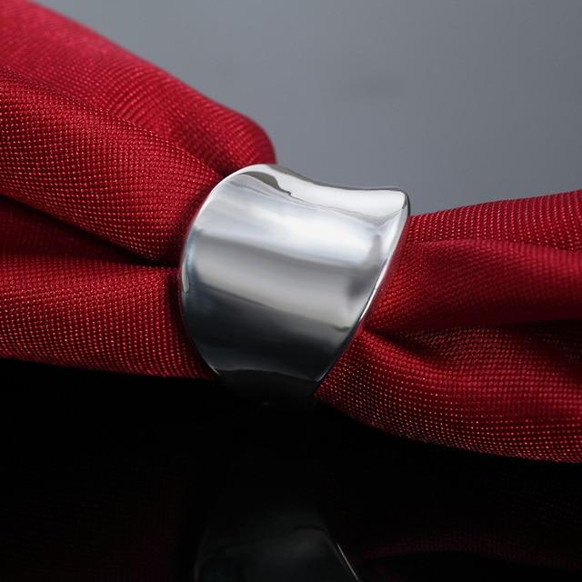Женское и мужское кольцо серебряного цвета размер 7 10 элегантные