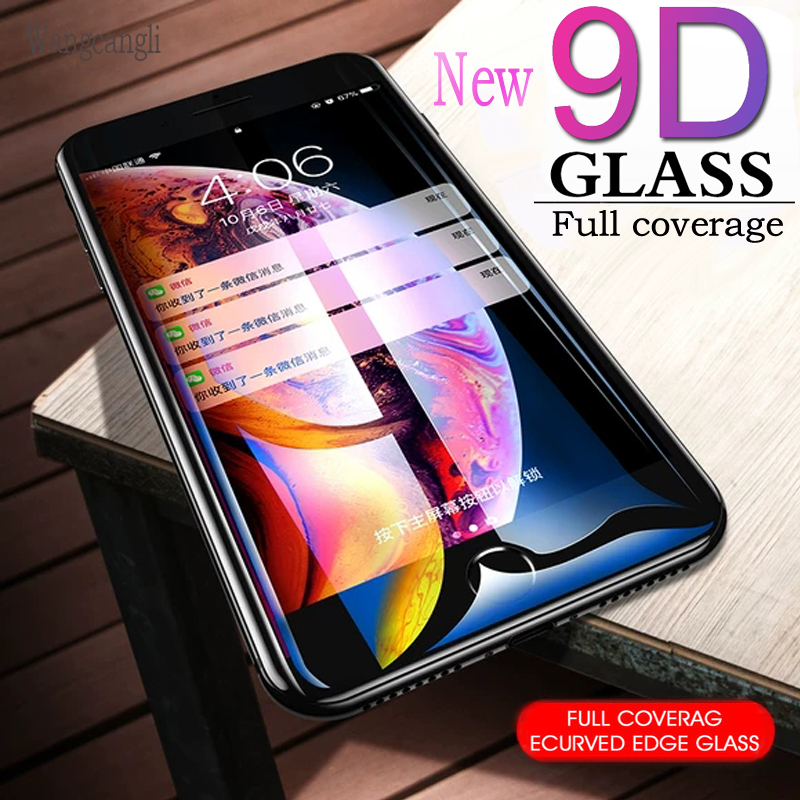 9D protective glass for iPhone 6 6S 7 8 plus X glass on iphone 7 6 8 X R XS MAX screen protector iPhone 7 6 XR screen protection