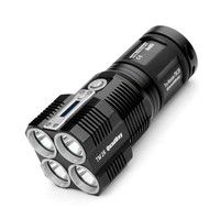 Nitecore TM26 Searching Flashlight 4* Cree Xml2 Led 4000 Scorching Lumens 454M Distance Oled Display Light By 4* 18650 Battery