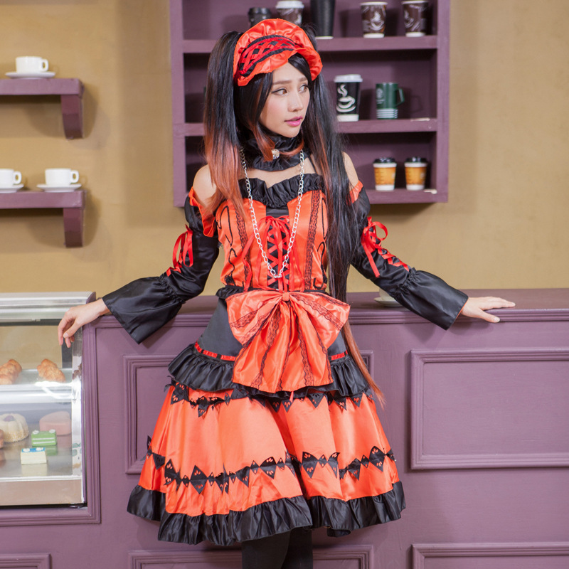 DATE A LIVE Tokisaki Kurumi Formal Dress Uniform Outfit Nighmare Anime Cosplay Costumes Halloween women cosplay