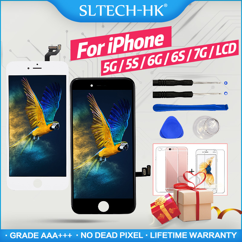 AAA+++ For iPhone 6 6S LCD 100% Brand New For iPhone 5 5S 7 Display With 3D Touch Screen Digitizer Assembly Replacement