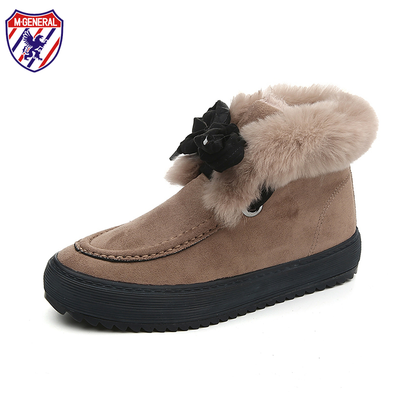 M.GENERAL Women Winter Boots Snow Boot Warm Female Comfortable Thick Platforms Ankle Shoes Breathable Platform Shoe #MJ-0128