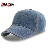 AUBREYRENE גברים כובע בייסבול Snapback כובעי כובעי מותג לזכר עצם Falt מתכוונן כובעי Gorras Casquette ריק מישור מוצק ג 'ינס
