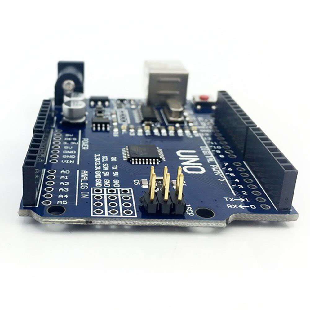Starter Kit for <font><b>arduino</b></font> Uno R3 &#8211; Bundle of 6 Items: Uno R3, Breadboard, Jumper Wires, USB Cable and <font><b>9V</b></font> <font><b>Battery</b></font> Connector