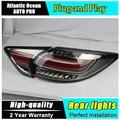 A & T Estilo Do Carro para Luzes Traseiras Mazda CX-5 2011-2015 CX5 CONDUZIU A Lâmpada de Cauda Novo CX-5 LEVOU Traseira lâmpada DRL + Freio + Parque + Sinal De luzes led