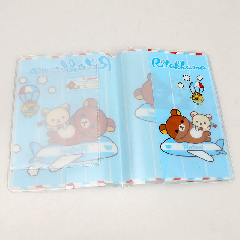 Beautiful Alieme Travel Card Passport Holder Case Top Quality Fashion Passport Cover Holder Cute Cartoon Rilakkuma Pvc Id Holders 14*9.6cm Coin Purses & Holders