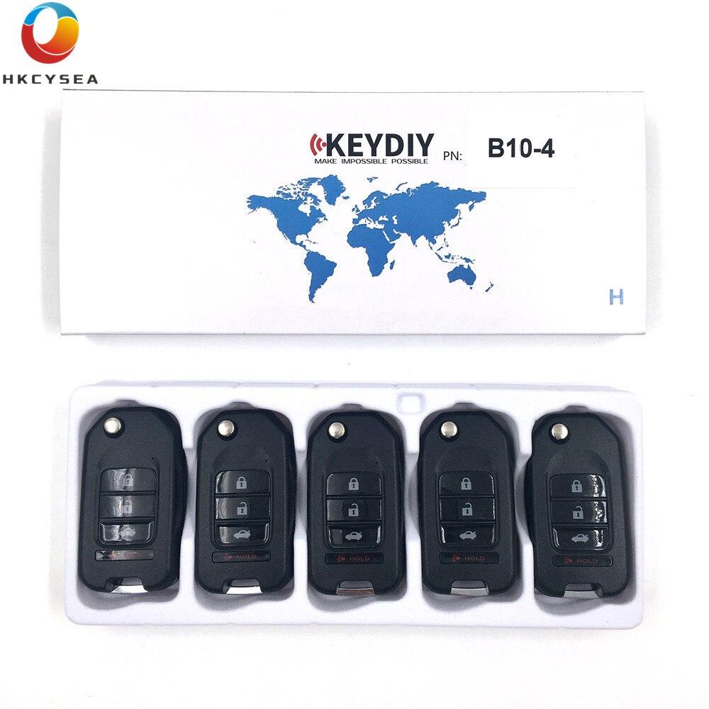 HKCYSEA 5 pçs/lote KD900 KD900 + URG200 KD-X2 KEYDIY Programador Chave B Série de Controle Remoto Botão 4 B10-4 KD Remoto chave
