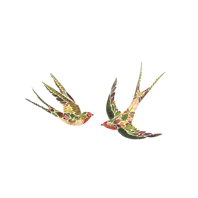 44ce41a089f00 Waterproof Temporary Fake Tattoo Stickers Unique Multi Color Swallow Bird Design  Make Up Tools