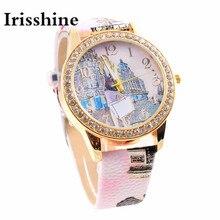 Irisshine B0856 Mulheres relógios de marca de luxo Senhora menina presente Novo Estilo London Fashion Colorido Relógio De Couro PU relógio de quartzo Ocasional