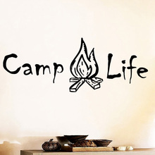 2019 Hot Sale camp Life Living Room Decoration For Kids Decor Wallstickers