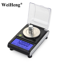 Digital Milligram Scale 50g 0 001g Balance Precision 0 001 Electronic Laboratory Weight Jewelry Libra Carat