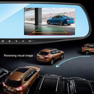 Image 2 - 4.3 Inch 1080P HD Car DVR Mirror with Rear View Camera Night Vision Car Dash Camera Auto Driving Video Recorder