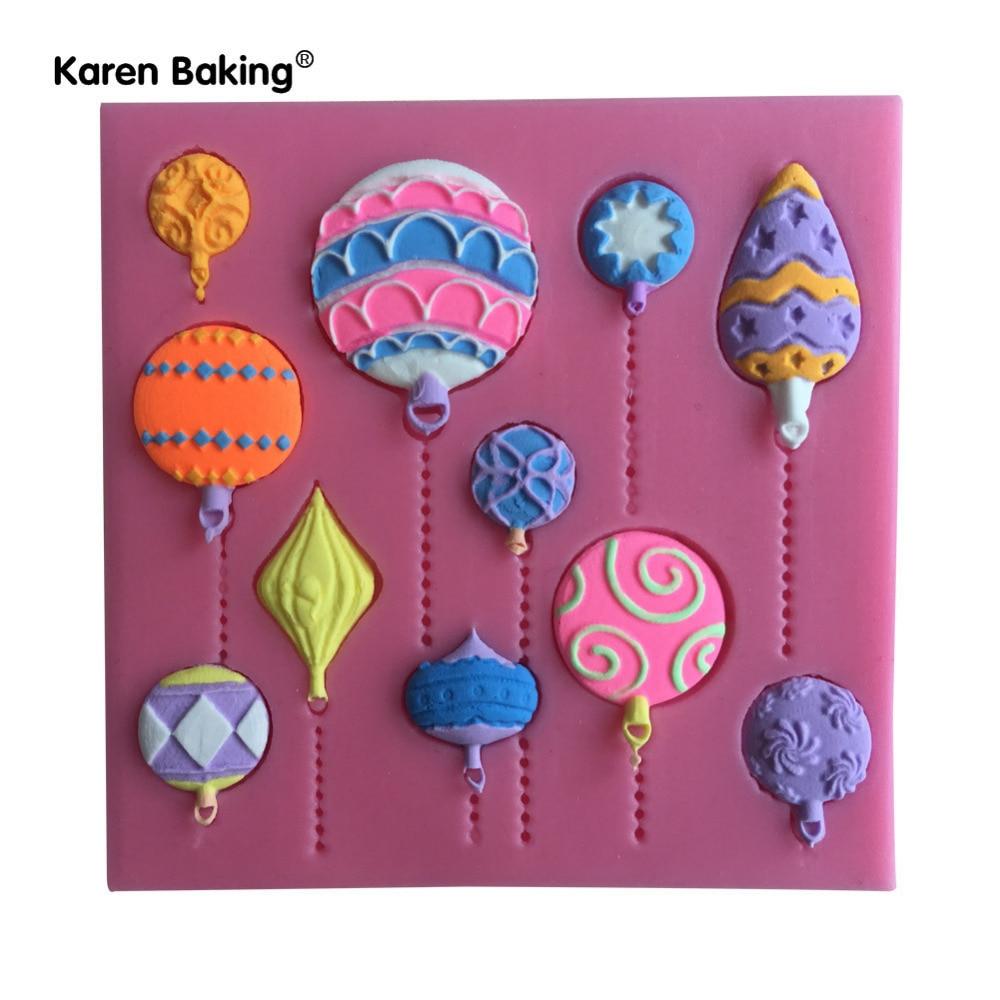 Diy Ballon Form Silikon Süßigkeiten Formen Schokoladenform Kuchen Cupcake Baking Accs. & Cake Decorating Home & Garden