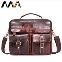 Hot Selling Men Bags 100 Genuine Leather Handbags Men Crazy Horse Leather Messenger Bags Shoulder Bag