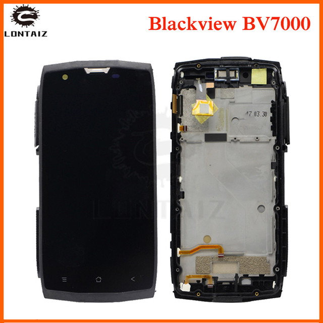AAA quality LCD For Blackview BV7000 LCD Display Touch panel Screen sensor Digitizer with frame Assembly For Blackview BV 7000