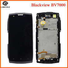 Aaa品質の液晶blackview BV7000 lcdディスプレイタッチパネル画面センサー用フレームアセンブリとblackview bv 7000