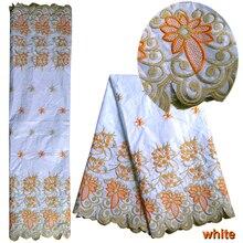 5 ярдов эксклюзивная африканская ткань жаккард вышивка кружевная ткань швейная одежда Африка воск ткань