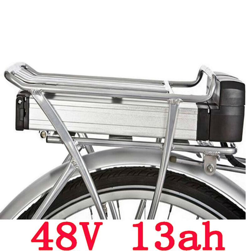 Batterie de vélo électrique 48 V 13ah batterie de support arrière 48 V 13AH pour Bafang BBS01 BBS02 eBike batterie + porte-bagages Double couche