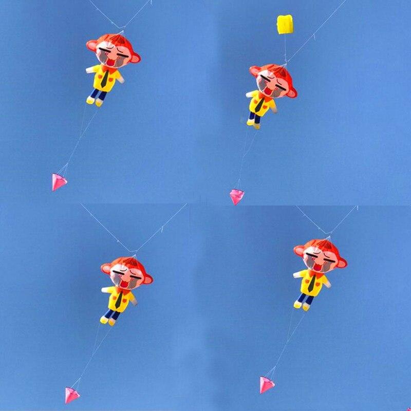 Livraison gratuite de haute qualité grand 3.5m singe doux cerf-volant pendentif tissu en plein air jouets weifang animal cerf-volant roue ripstop nylon