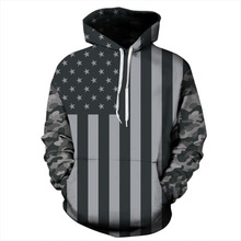 Hoodies Men Women Plus Size 3d Sweatshirt Sportwear USA Flag Hooded Pullover Tracksuit
