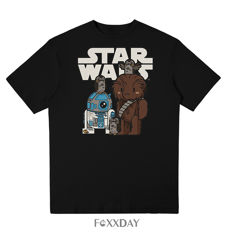 High Quality Man T Shirt Star Wars Cartoons Clothing Movie T-shirt Men Adult 100% Cotton Funny Tee Shirts For Teen free shipping