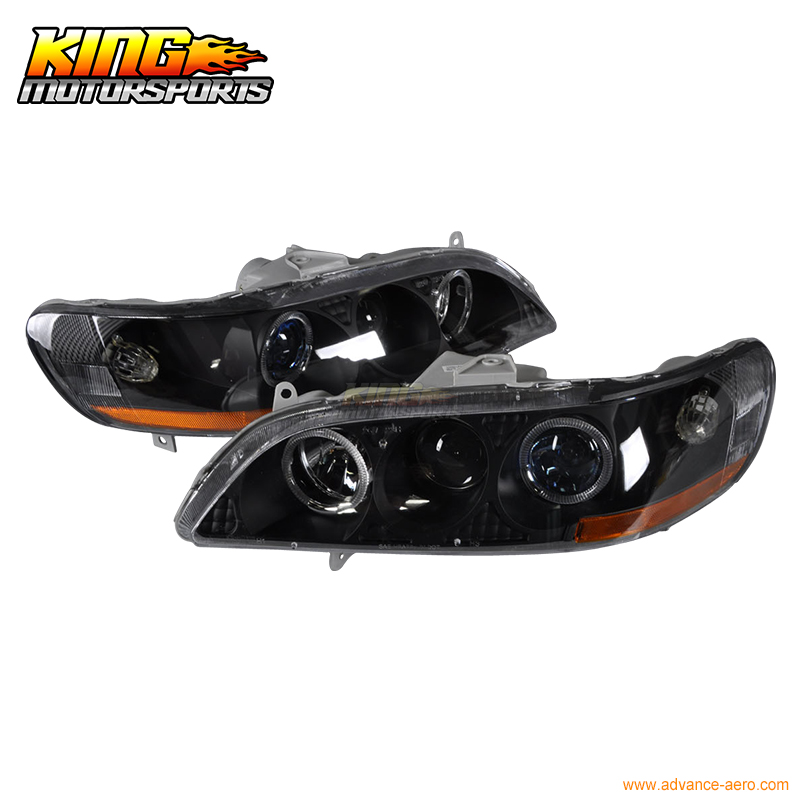 For 98-02 Accord 1Pc Dual Halo Projector Headlights 99 00 01 USA Domestic Free Shipping for 01 05 lexus is300 ccfl halo projector headlights 02 03 04 usa domestic free shipping