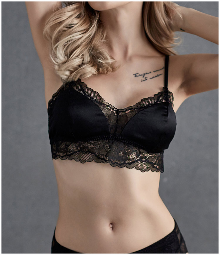 French style Fashion Sexy 3/4 Cup Wire Free New Women Woman Lace Lady Girl Soft Bras YH73