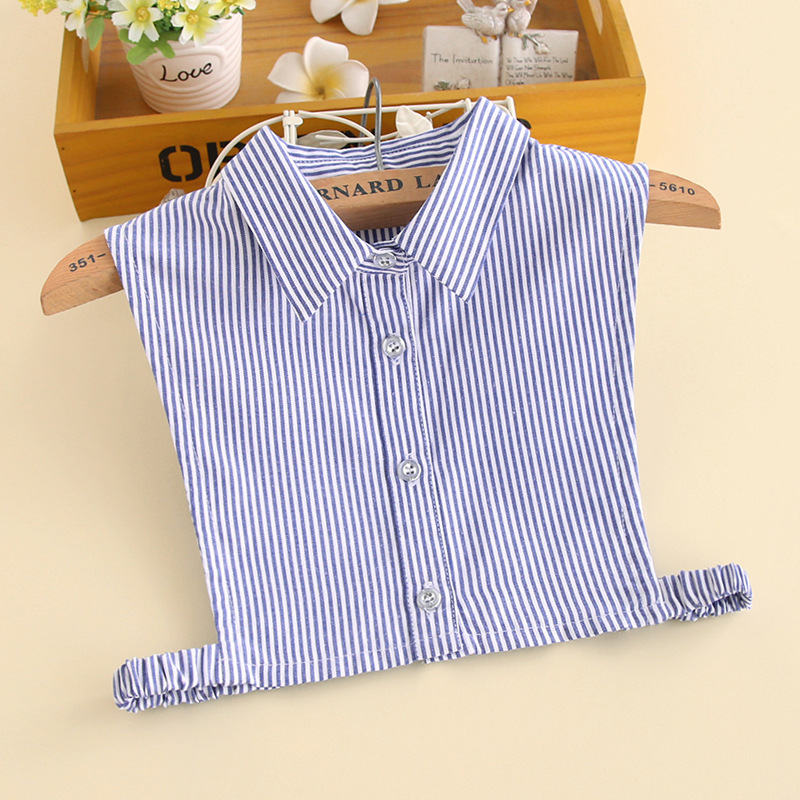 YSMILE Y Fashion Cotton Children Detachable Collar White Plaid Print High Quality Remove Decoration Shirt Collar Small Size