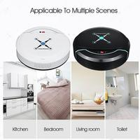 2018 Plastic Smart Vacuum Cleaner Sweeping Robot Floor Cleaning Robot Dust Mini Bedroom Low Noise Rechargeable Movable Creative