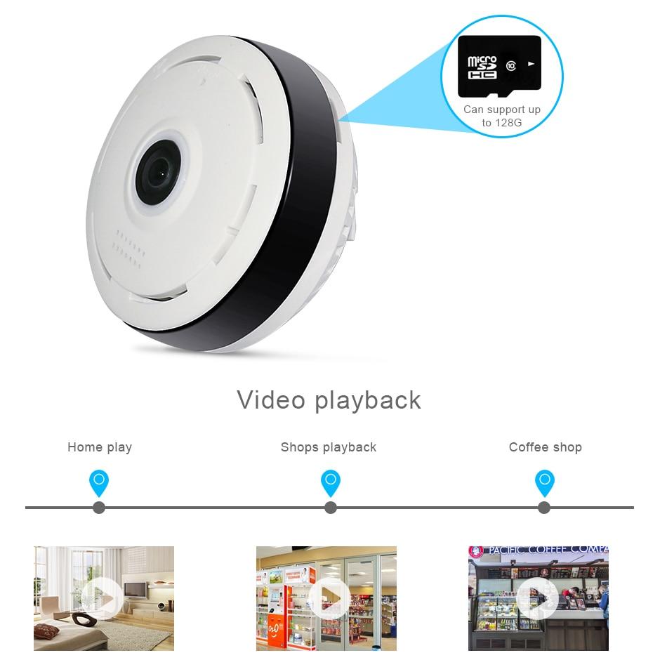 Kamera HD FishEye IP 960P 360 stopni Pełny widok Mini kamera CCTV - Bezpieczeństwo i ochrona - Zdjęcie 3