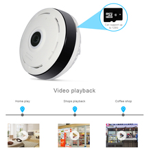 HD FishEye IP camera 960P 360 degree Full View Mini CCTV Camera 1.3MP Network Home Security WiFi VR Camera Panoramic IR Hiseeu
