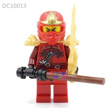 1PCS model building blocks action superheroes red Llyod house hobby learn Doll diy toys for children gift(China)