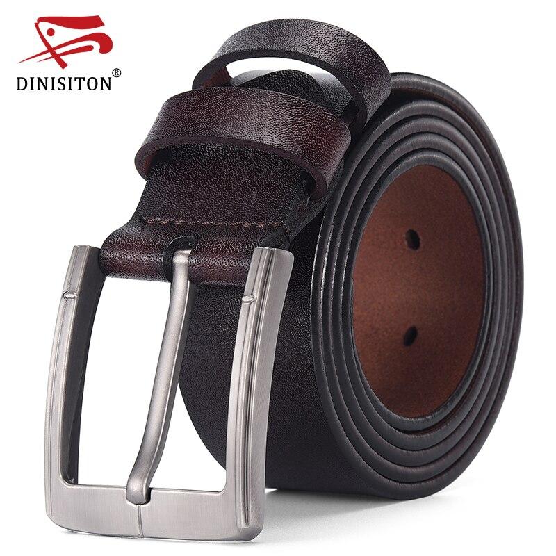 DINISITON Genuine Leather Belt Men Luxury Designer Strap Brand Belts For Male Vintage High Quality Cowhide Fashion Cummerbunds