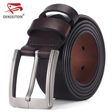 DINISITON Genuine Leather Belt Men Luxury Designer Strap Brand Belts For Male Vintage High Quality Cowhide fashion Cummerbunds