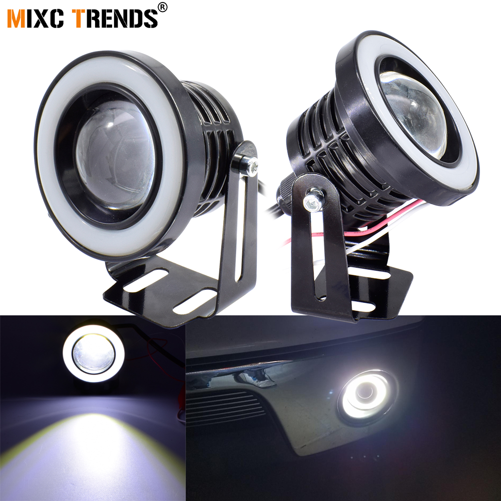 US $16 63 39% OFF|2Pcs 30W COB LED Fog Light with Spotlight Lens 12V  2 5inch 3
