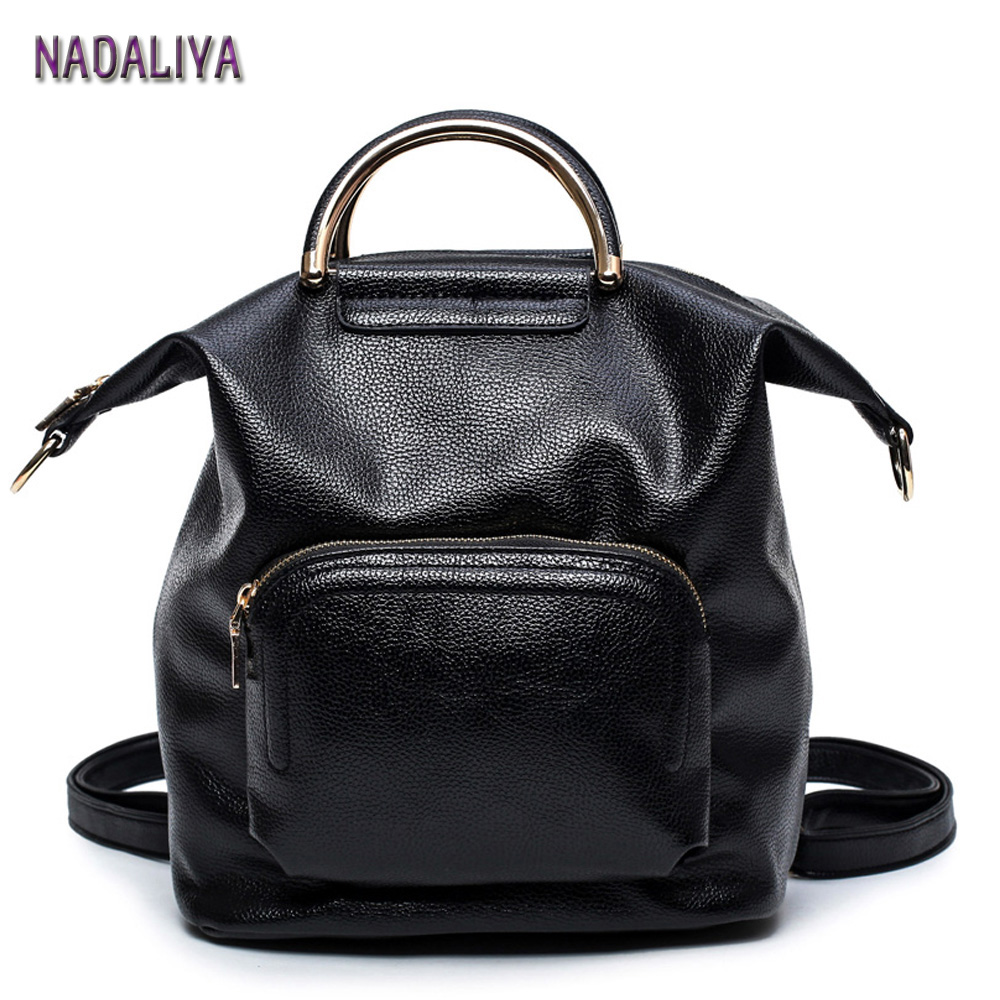 NADALIYA NEW 2017 Japan and South Korea fashion laeather backpack Multifunction shoulder bag women totes bag backpacks Designers