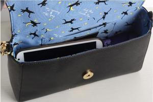 Image 5 - 1 piece metal cat moon logo anime sailor moon luna Envelope message Shoulder bag day clutch  tote bag